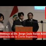 Homenaje al profesor de derecho penal, Dr. Jorge Luis Salas Arenas