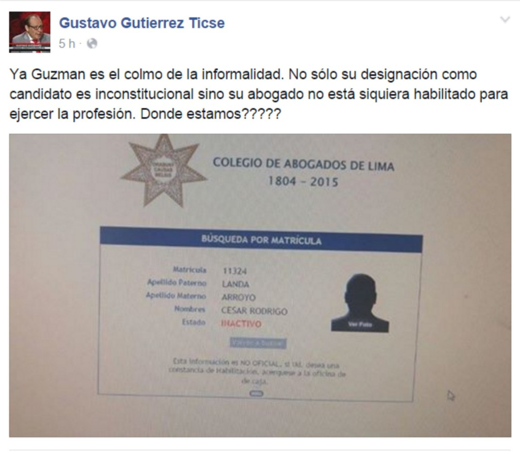 Gustavo Gutierrez Ticse