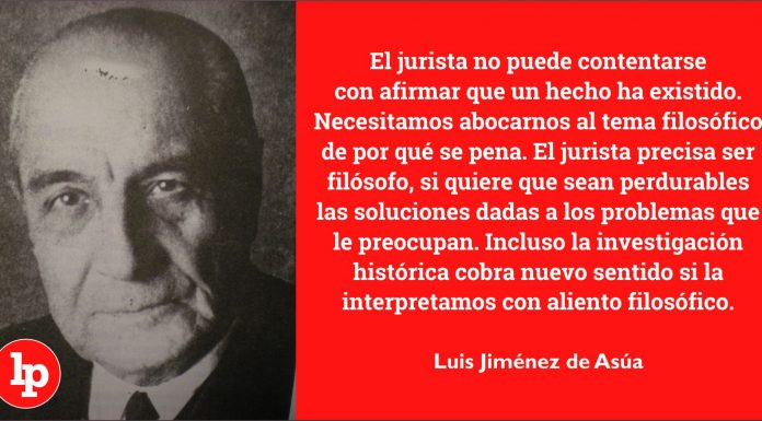 Luis Jiménez de Asúa, profesor de profesores.