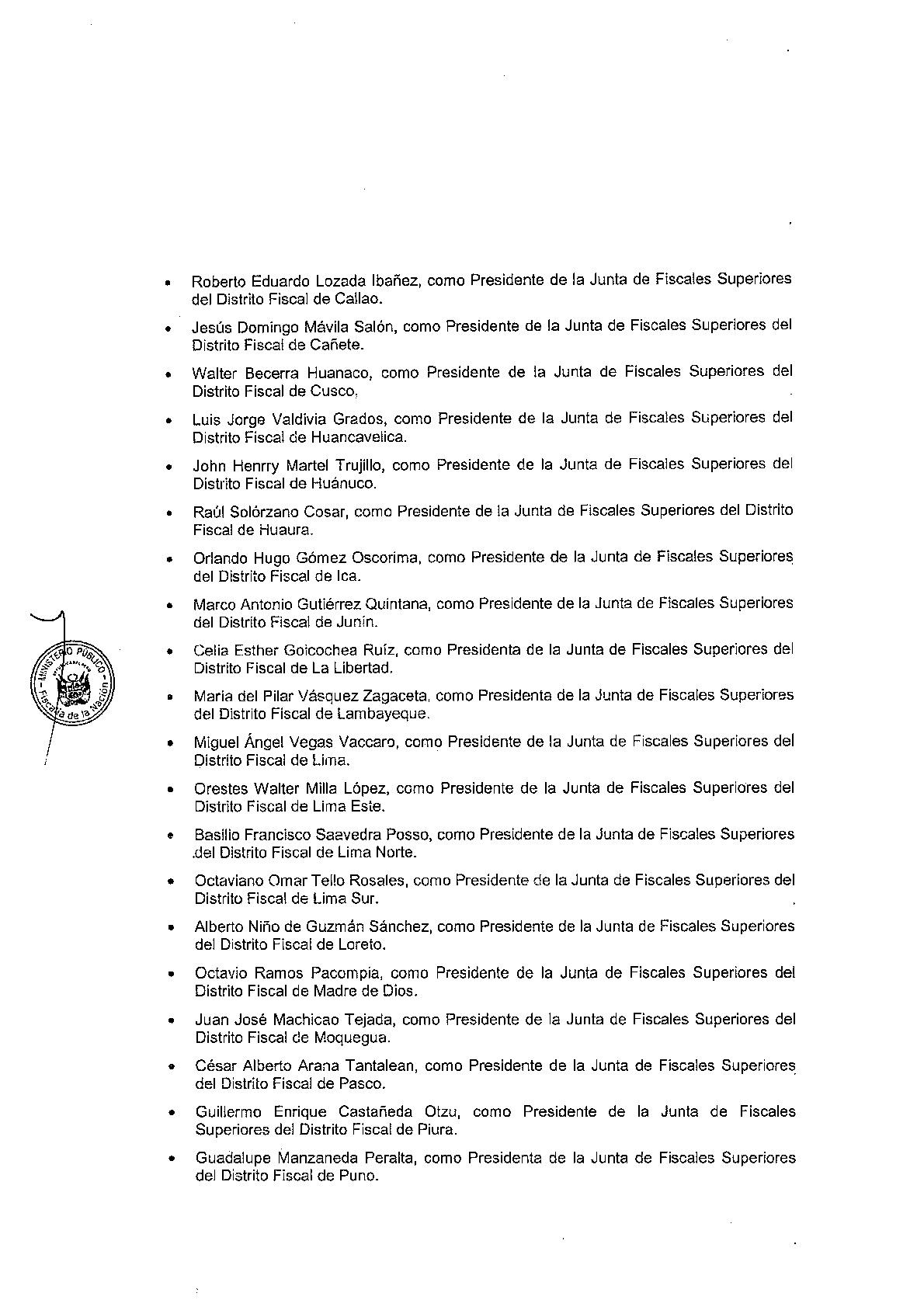 vea-la-lista-de-los-nuevos-presidentes-de-las-juntas-de-fiscales-superiores-designados-a-nivel-nacional-2017-2018-2